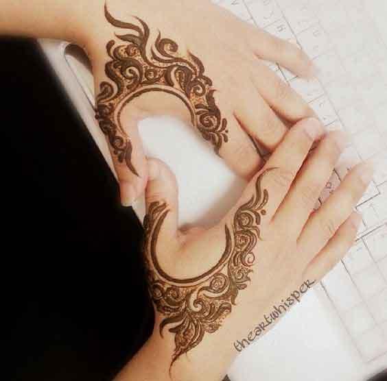 Khaleeji Henna Mehndi Design : Latest and stylish one line mehndi designs for hands
