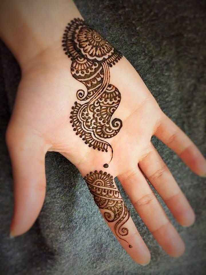 Mehndi Design Line Art : Latest and stylish one line mehndi designs for hands