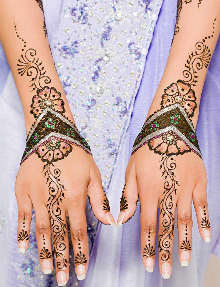 floral-bracelet-mehendi-designs