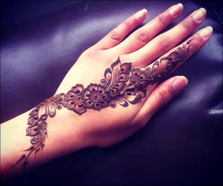 Arabic Mehndi Flower : 20 latest and stylish one line mehndi designs for hands
