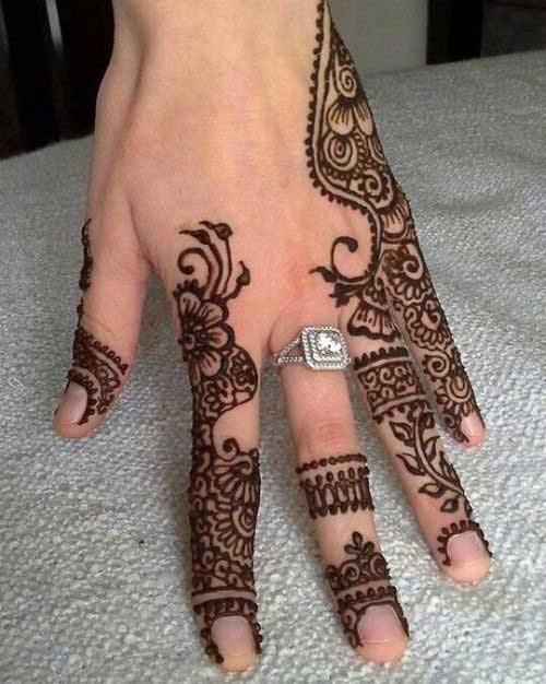 Creeper Mehndi Design for Finger