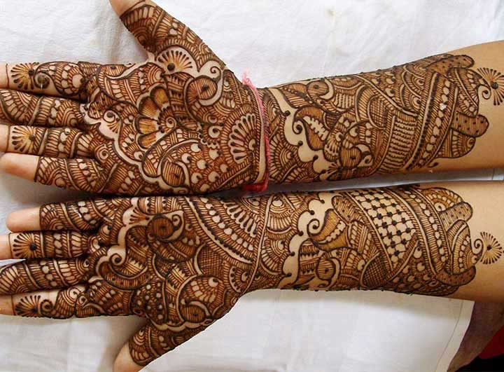 Gujarati mehndi henna designs for full hands with pictures