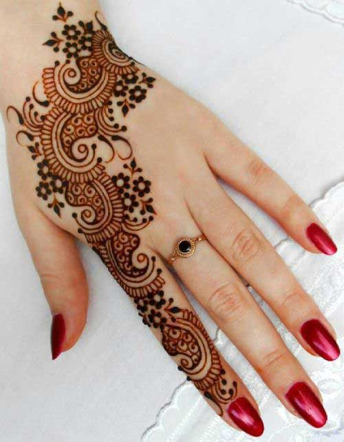 Indian Mehendi Design for Finger