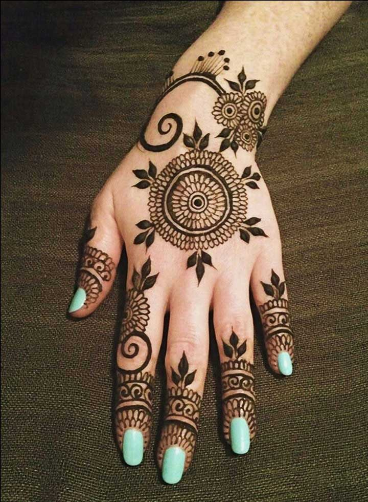 leaf-and-flower-black-mehndi-design