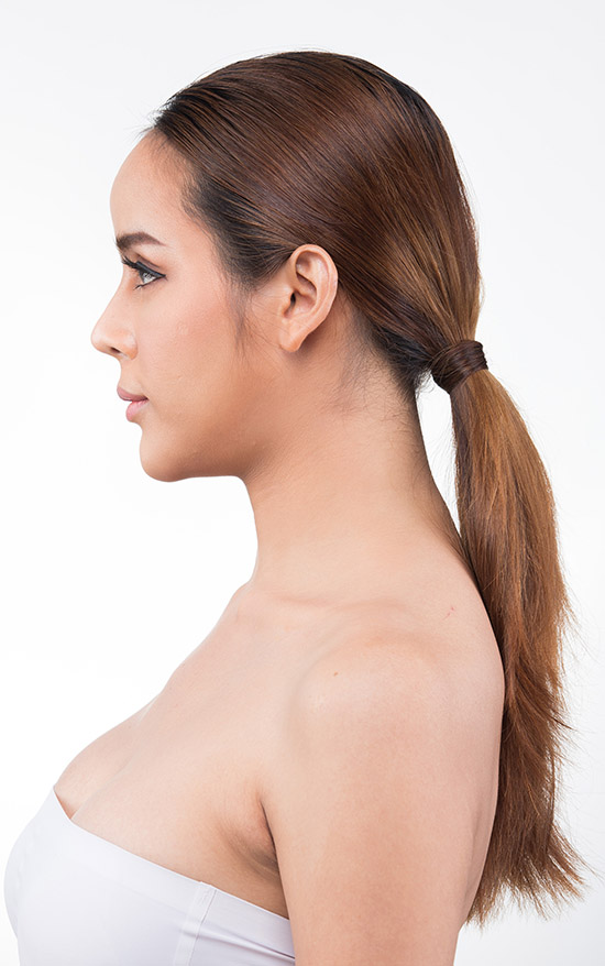 Short Straight Hair Ponytail