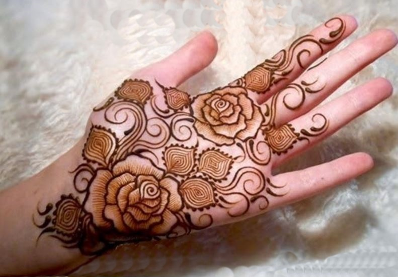 Flower Mehndi Designs For Back Hands : Top simple and easy beautiful mehndi designs for kids
