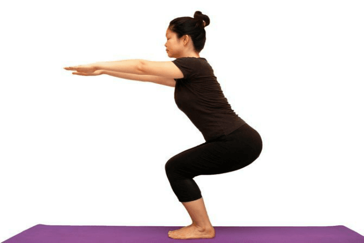 utkatasana chair pose