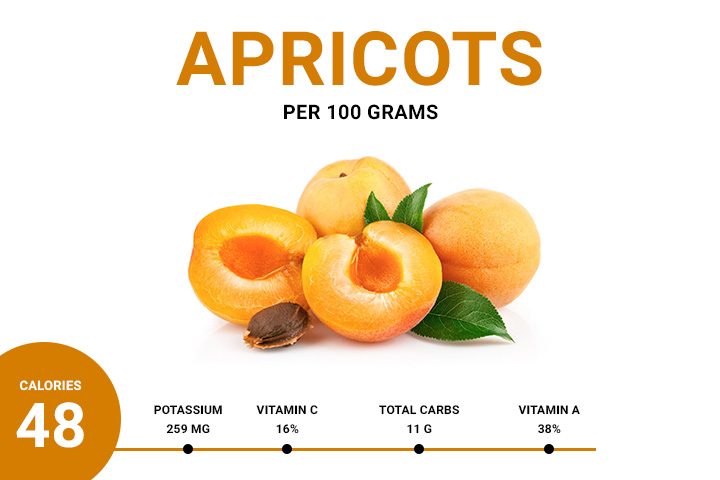 apricot calories