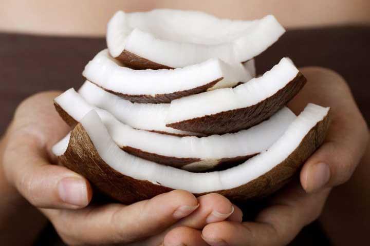 coconut pieces