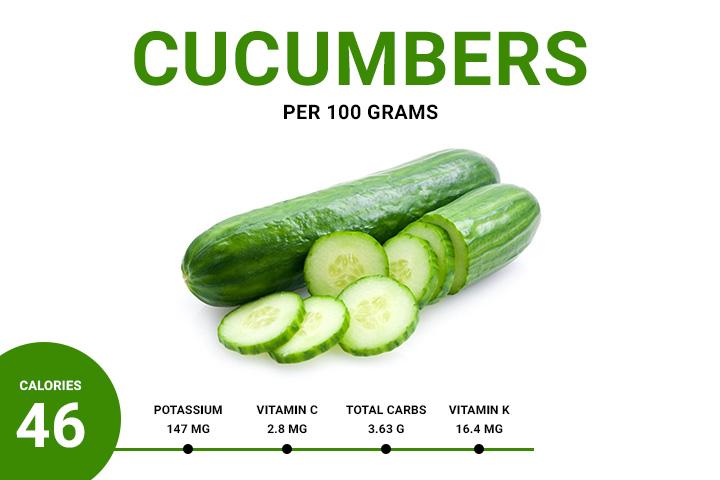 cucumber calories