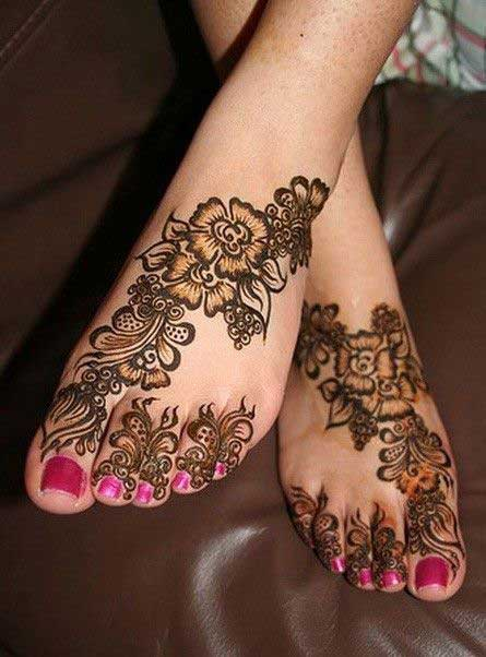 latest and stylish floral mehndi designs for hands