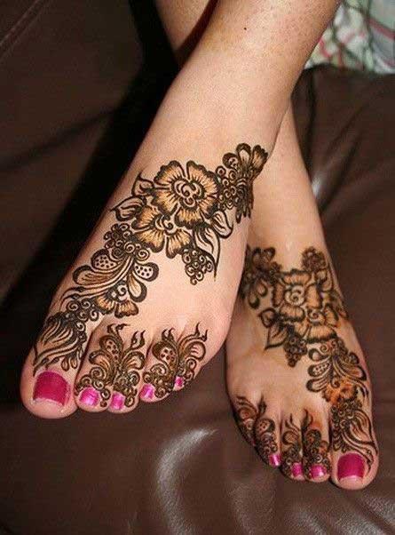 floral-mehndi-for-leg