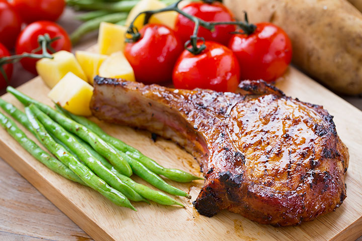 low carb pork chops with vegetables