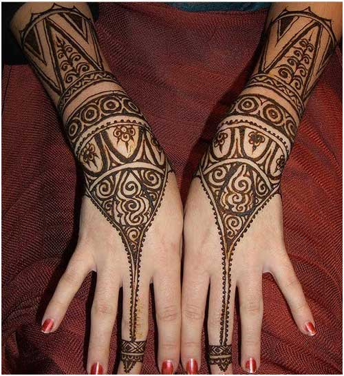 20 Beautful Henna Designs For Nikah: 20 Stunning And Beautiful Bangle Mehndi Designs To Inspire