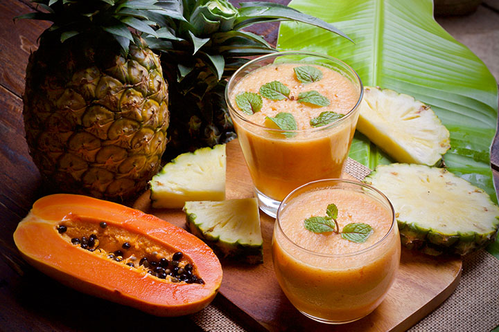 pineapple papaya smoothie for weight loss