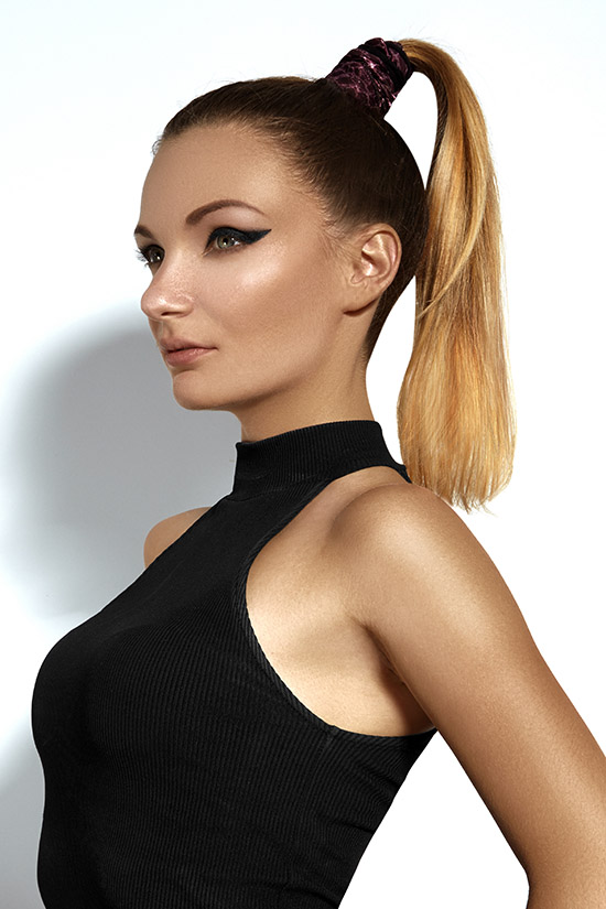 ponytail hairstylefor straight hair