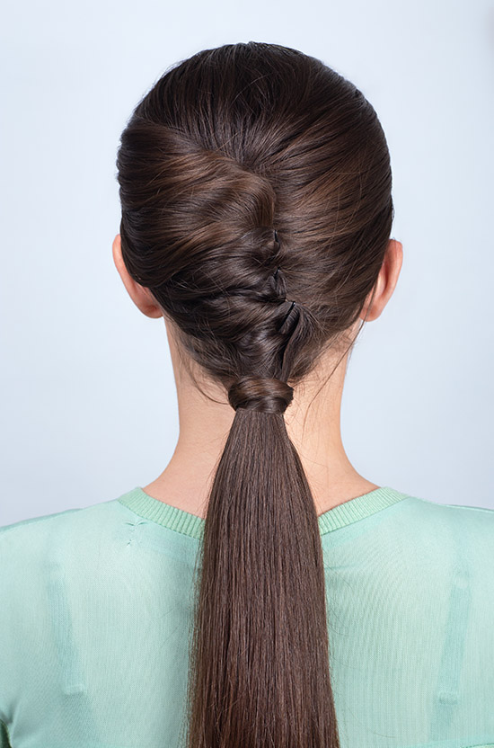 ponytail with twist hair