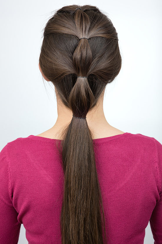 simple pony tail  hairstyle for long hair