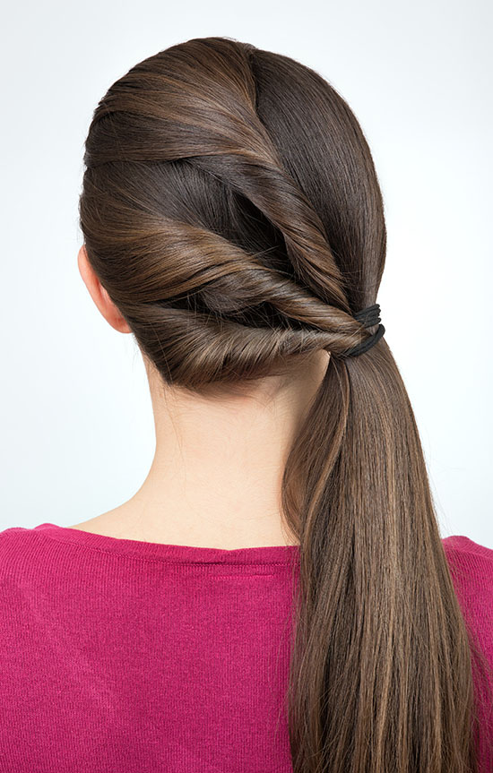 twisted pony tail hairstyle