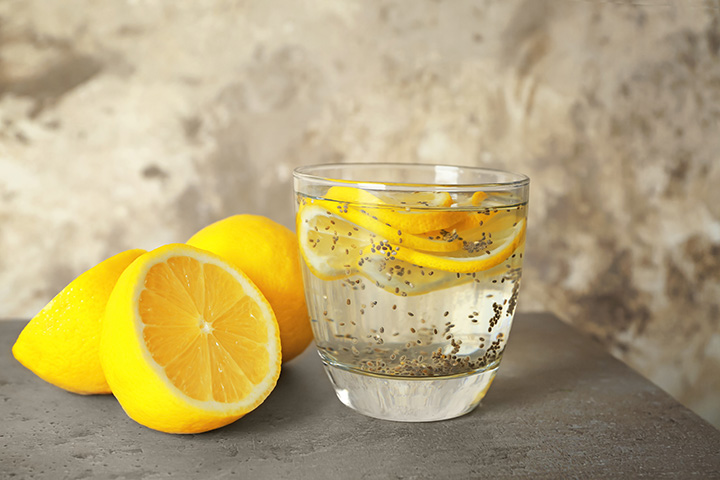 chia seeds with lemon drink for belly fat