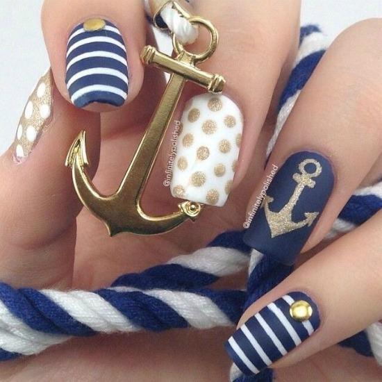 26 cute anchor nail art designs 7 prinsesfo Gallery