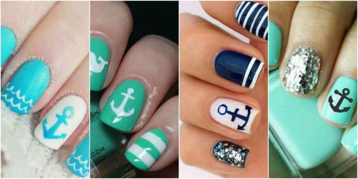 26 cute anchor nail art designs prinsesfo Gallery