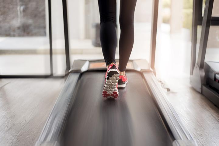 brisk walk on treadmill