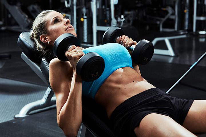 dumbbell chest press breast lift