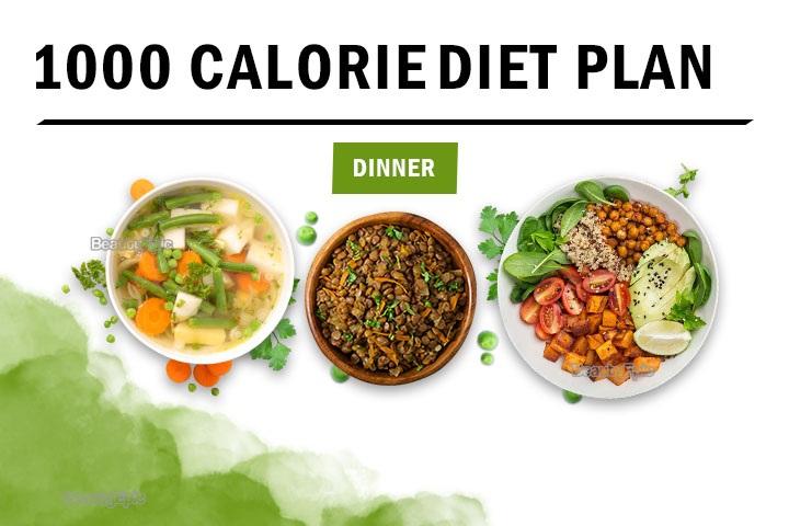 1000 calorie dinner
