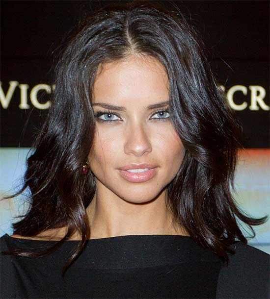 Adriana Lima Long Bob Hairstyles