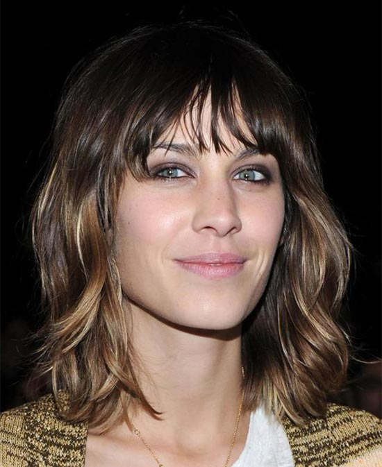 Alexa Chung Medium Shag Haircuts
