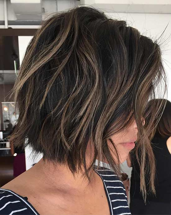 Alexandra Maria Lara Choppy Bob Hairstyles