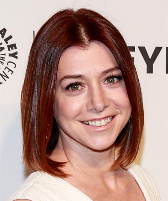 Alyson Hannigan Medium Red Hairstyles