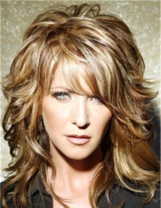 Amanda Hearst Medium Shag Haircuts