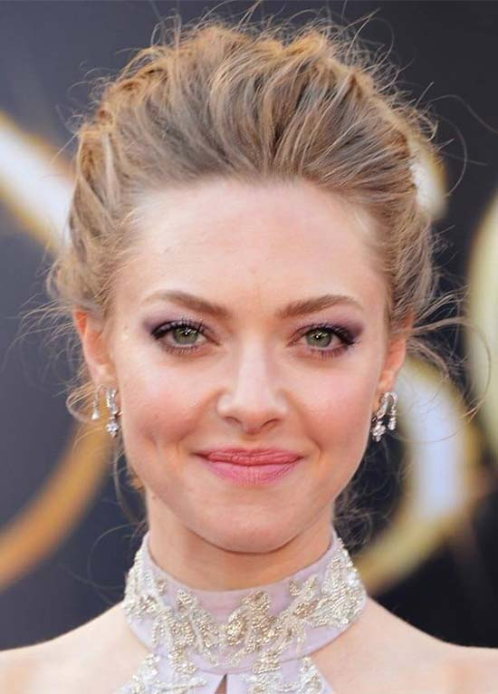 Amanda Seyfried Updos for Medium Length Hair