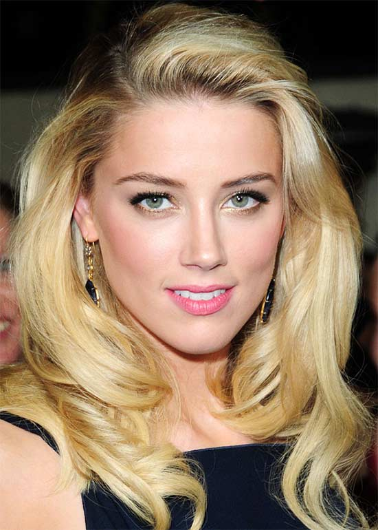 Amber Heard Medium Blonde Hairstyles