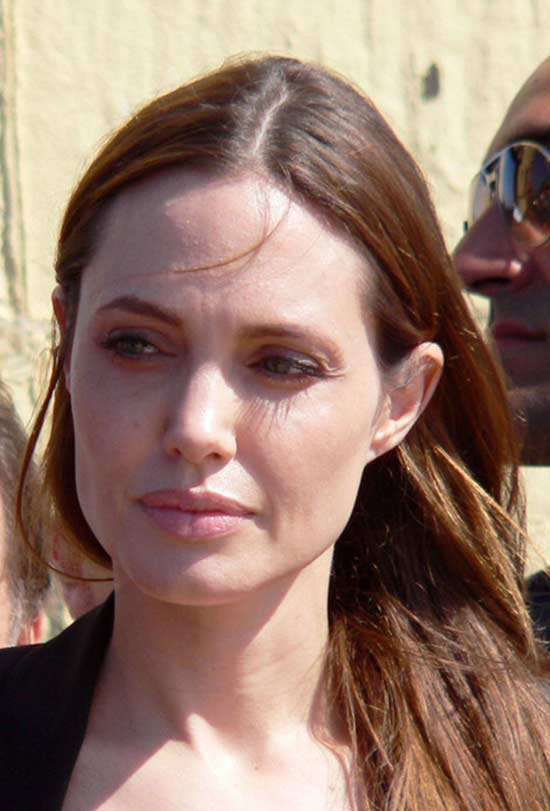 Angelina Jolie Medium Length Hairstyles for Thin Hair