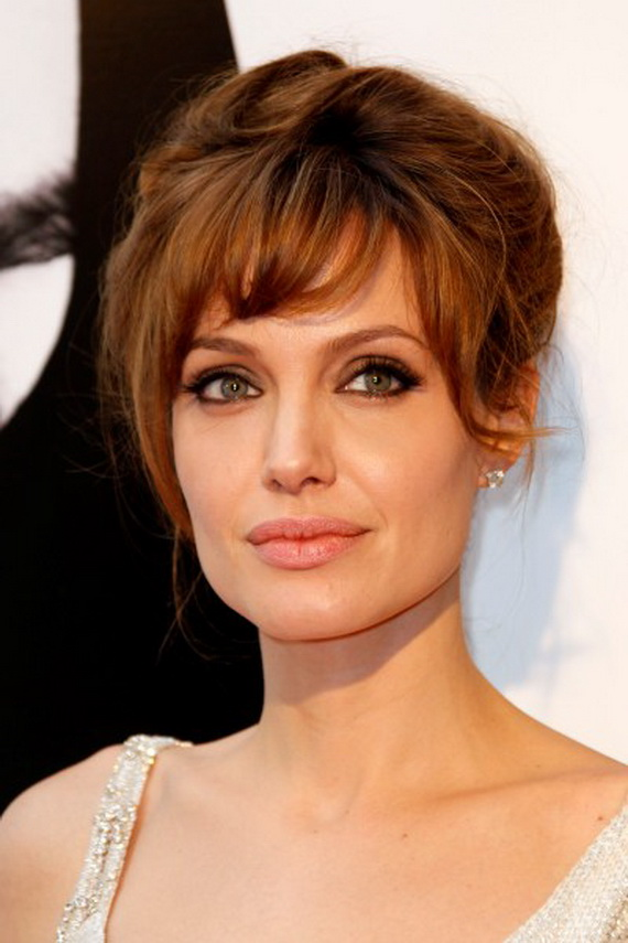 Angelina Jolie Medium Red Hairstyles
