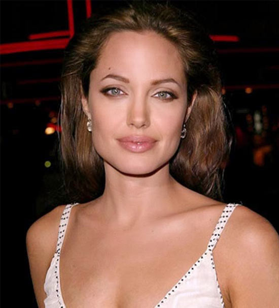 Angelina Jolie Medium Shag Haircuts