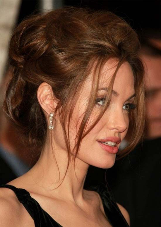 Angelina Jolie Updos for Medium Length Hair