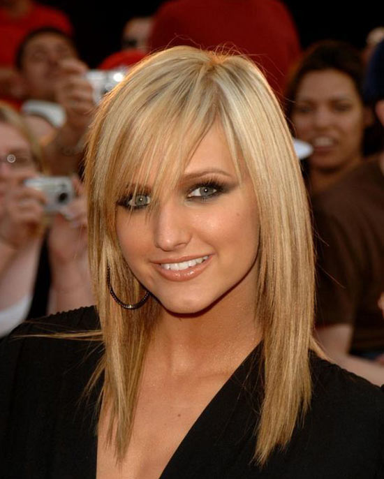 Ashlee simpson Medium Shag Haircuts