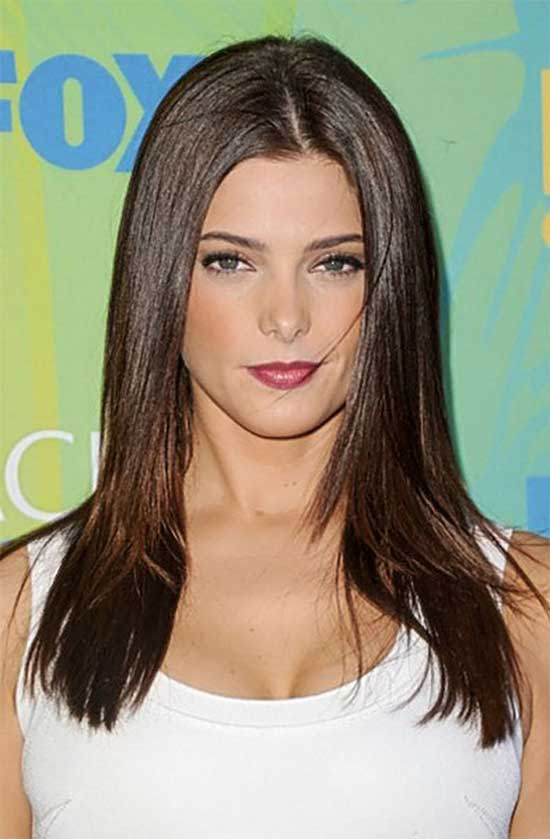 Ashley Greene Medium Straight Hairstyles