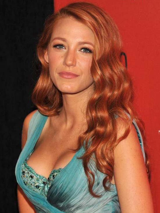 Blake Lively Medium Red Hairstyles