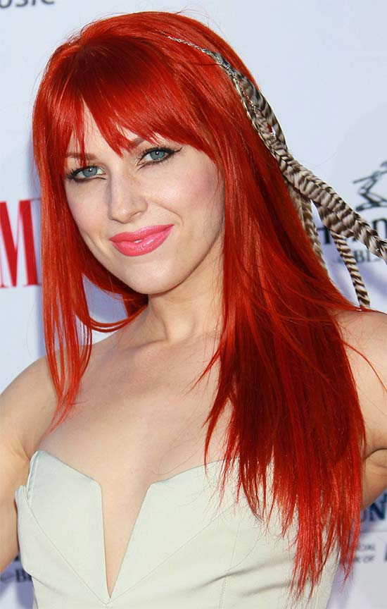 Bonnie McKee Medium Red Hairstyles