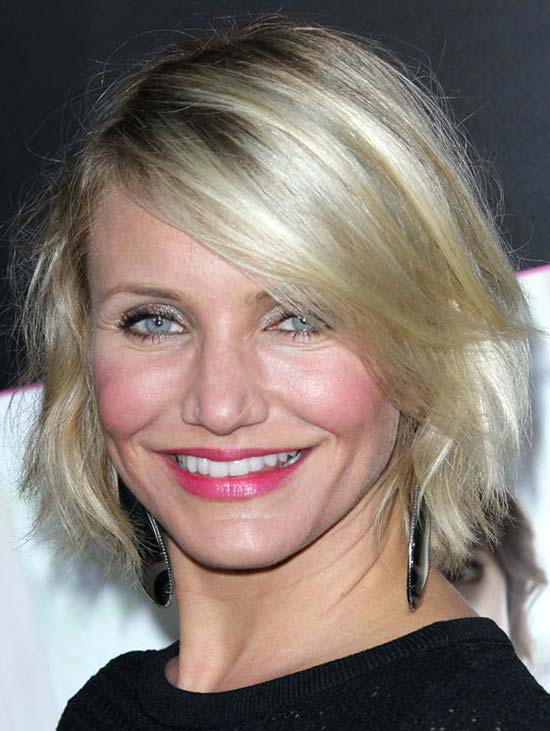 Cameron Diaz Choppy Bob Hairstyles