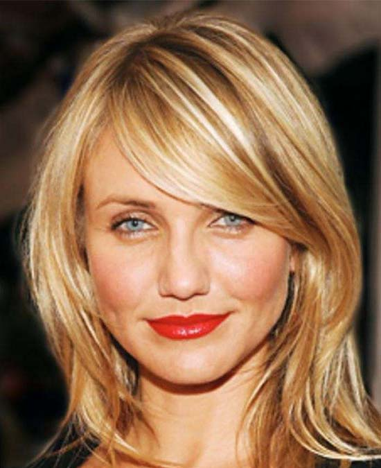Cameron Diaz Medium Length Haircuts for Thick Hair