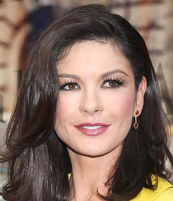 Catherine Zeta Jones Medium Length Haircuts for Thick Hair