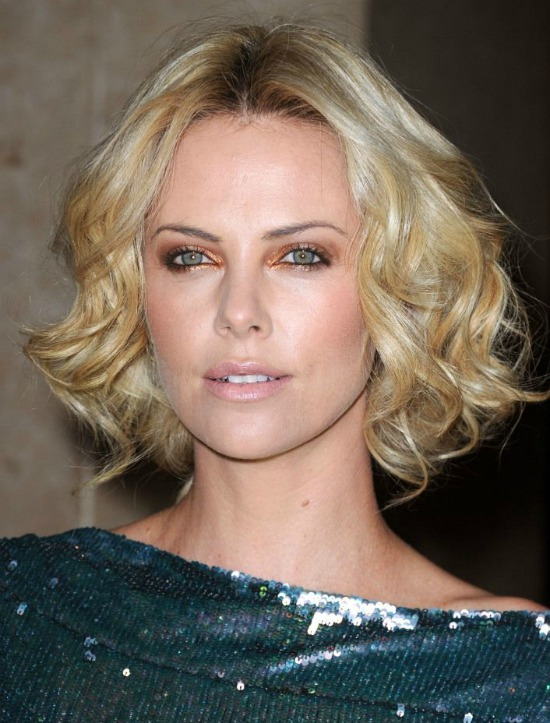 Charlize Theron Long side bangs