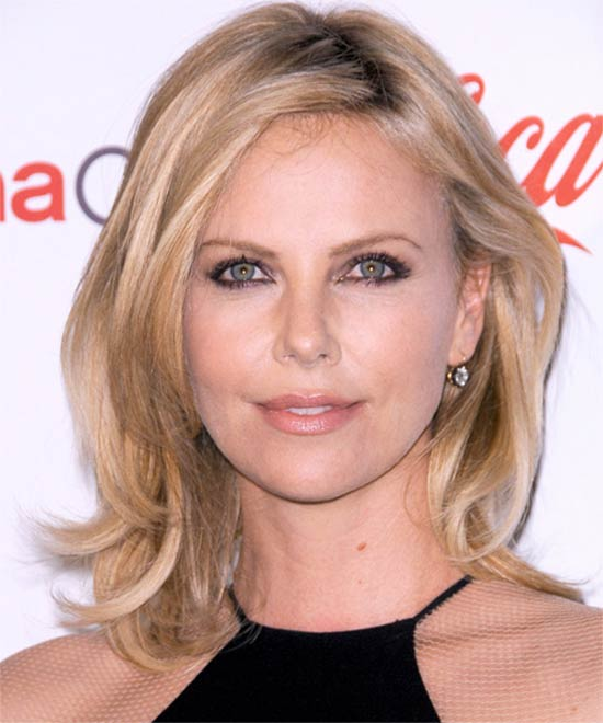 Charlize Theron Medium Blonde Hairstyles