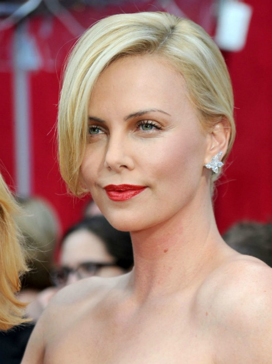 Charlize Theron Short Bob with FRont Bang Hairstyle